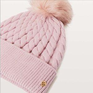 Lululemon Wool Be Toasty Blush Beanie